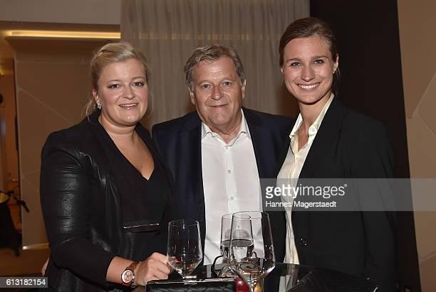 Isabel Haug Norbert Haug and Britta Heidemann during the Felix Friends Charity Gala at Hotel Vier Jahreszeiten on October 7 2016 in Munich Germany