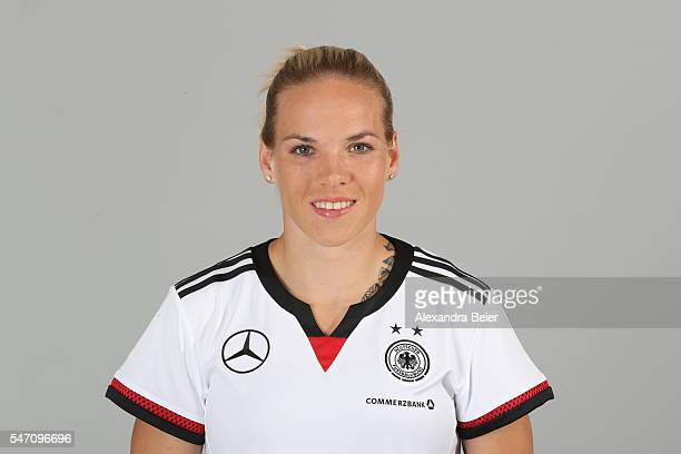 Isabel Kerschowski of the German women's national football team poses during the team presentation on June 21 2016 in Grassau Germany