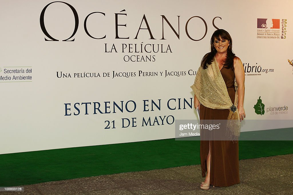Isabel Lascurain poses for a photograph at the green carpet of the movie ?Oceanos? at the National Auditorium on May 19, 2010 in Mexico City, Mexico.