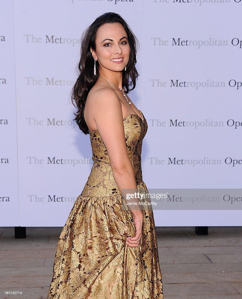 Isabel Leonard attends the Metropolitan Opera Season Opening Production Of 'Eugene Onegin' at The Metropolitan Opera House on September 23, 2013 in New York City.