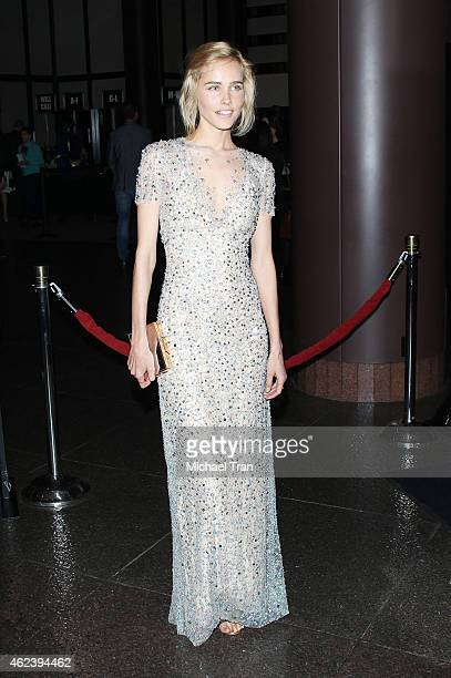 Isabel Lucas arrives at the Los Angeles special screening of 'The Loft' held at Directors Guild of America on January 27 2015 in Los Angeles...