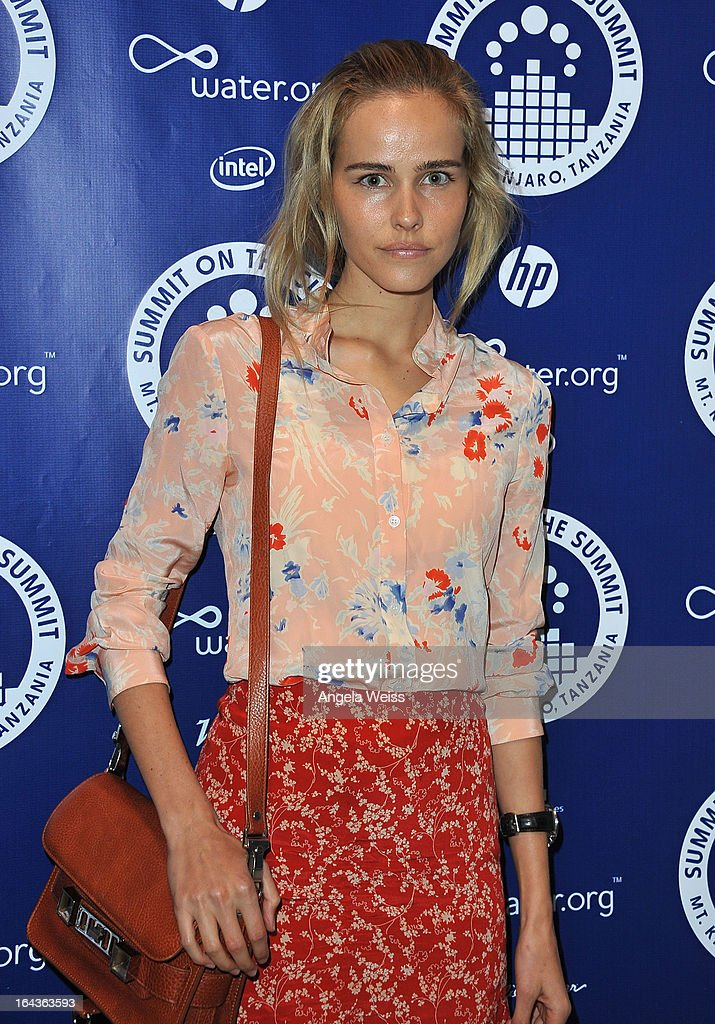 Isabel Lucas arrives at the Summit On The Summit photo exhibition celebrating World Water Day at Siren Studios on March 22, 2013 in Hollywood, California.