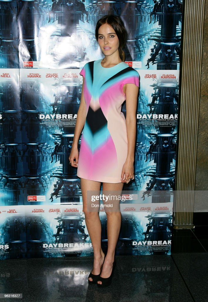 Isabel Lucas attends the Australian premiere of 'Daybreakers' at Hoyts at The Entertainment Quarter on February 1 2010 in Sydney Australia