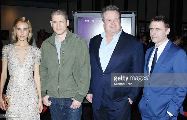 Isabel Lucas Wentworth Miller Eric Stonestreet and Erik Van Looy arrive at the Los Angeles special screening of 'The Loft' held at Directors Guild of...