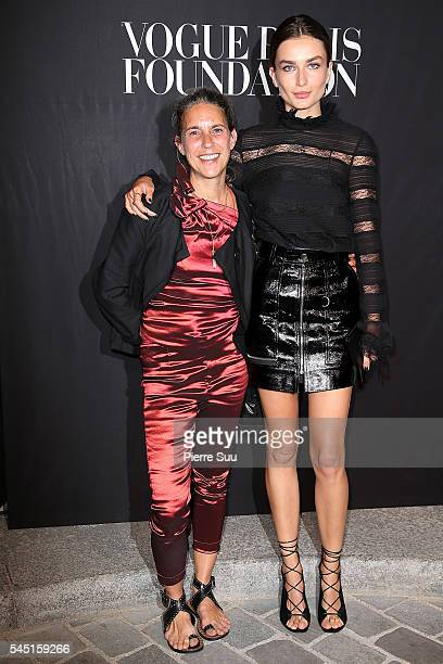 Isabel Marant and Andreea Diaconu attend the Vogue Foundation Gala 2016 at Palais Galliera on July 5 2016 in Paris France