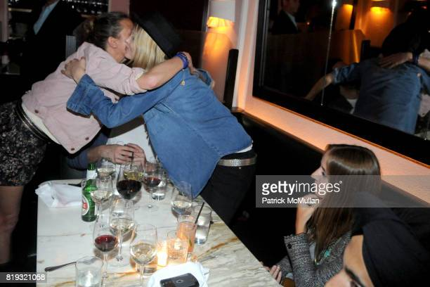 Isabel Marant and Lily Donaldson attend ISABEL MARANT NYC Store Opening Dinner at Kenmare on April 14 2010 in New York City