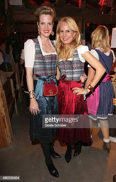Isabel Minzi zu HohenloheJagstberg and Princess Nadja zu Schaumburg Lippe wearing the same Dirndl by Caroline Elleke during the Oktoberfest 2015 at...