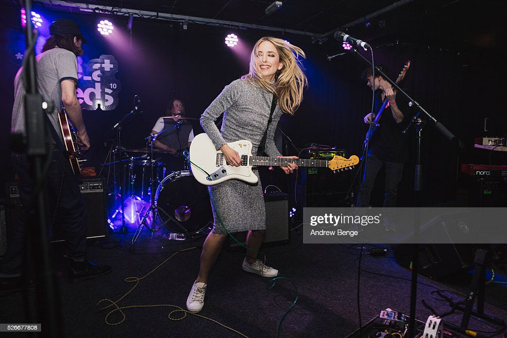 Isabel Munoz-Newsome of Pumarosa performs at The Wardrobe during Live At Leeds on April 30, 2016 in Leeds, England.