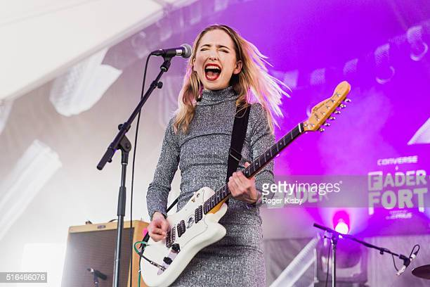Isabel MunozNewsome of the band Pumarosa perfoms onstage at the FADER FORT presented by Converse during SXSW on March 18 2016 in Austin Texas