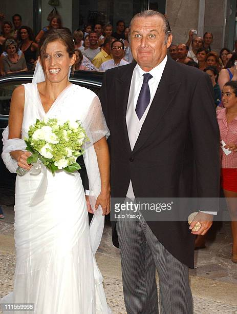 Isabel Nadal and her father Miguel Nadal during Wedding of Isabel Nadal and Christian Leathley at Palma de Mallorca in Palma de Mallorca Islas...