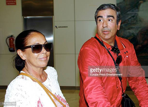 Isabel Pantoja and Agustin Pantoja are seen on October 1 2013 in Madrid Spain