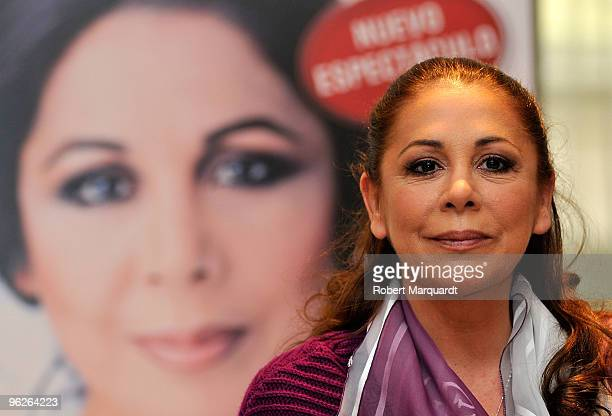 Isabel Pantoja attends a press conference for her latest musical 'Asi es la Vida El Musical' at the Hotel Diplomat on January 29 2010 in Barcelona...
