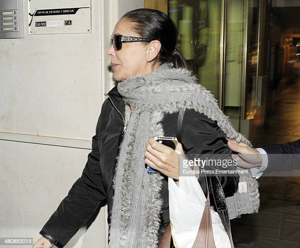 Isabel Pantoja is seen on March 5 2014 in Malaga Spain
