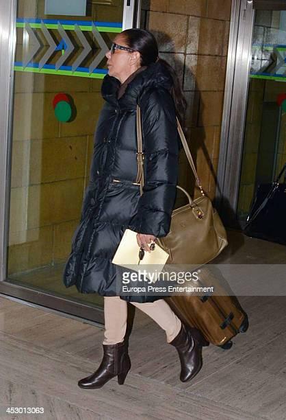 Isabel Pantoja is seen on November 29 2013 in Seville Spain