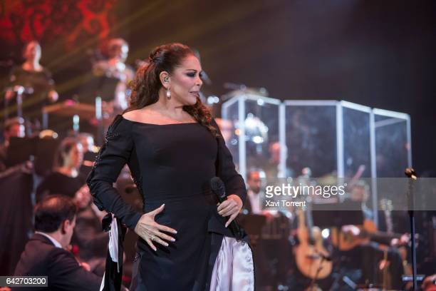 Isabel Pantoja performs in concert at Palau Sant Jordi on February 18 2017 in Barcelona Spain