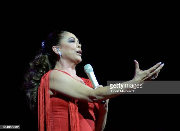Isabel Pantoja performs in concert at the L'Auditori on December 4 2011 in Barcelona Spain