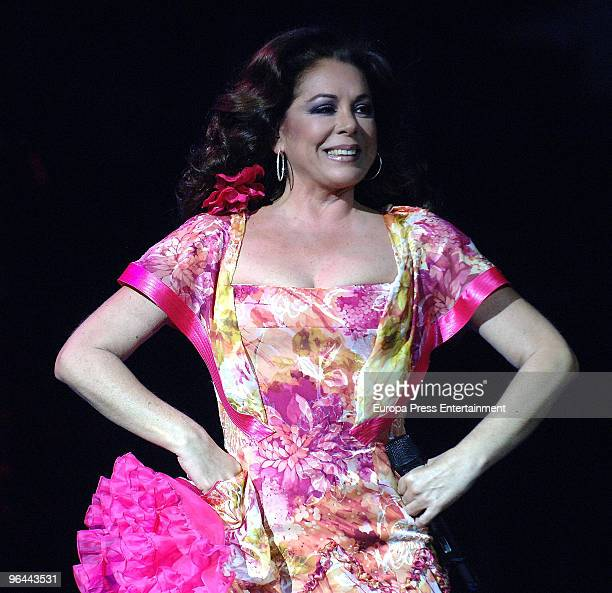 Isabel Pantoja performs in concert in Barcelona on February 4 2010 in Barcelona Spain