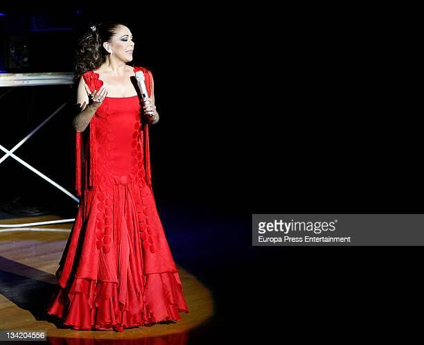 Isabel Pantoja performs in concert on November 26 2011 in Las Palmas Spain
