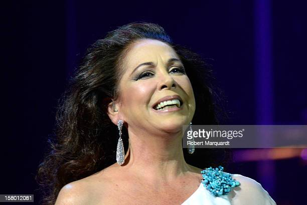 Isabel Pantoja performs on stage at the L'Auditori on December 8 2012 in Barcelona Spain