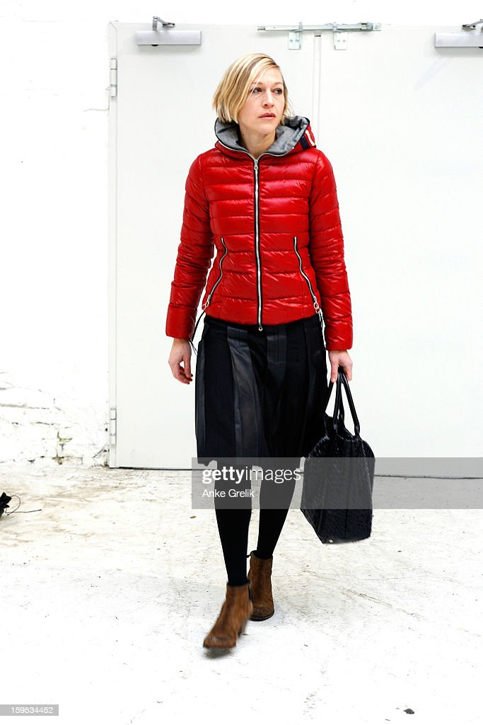 Isabel Prange wearing Drykorn skirt attends Premium at Mercedes-Benz Fashion Week Autumn/Winter 2013/14 at venue on January 15, 2013 in Berlin, Germany.