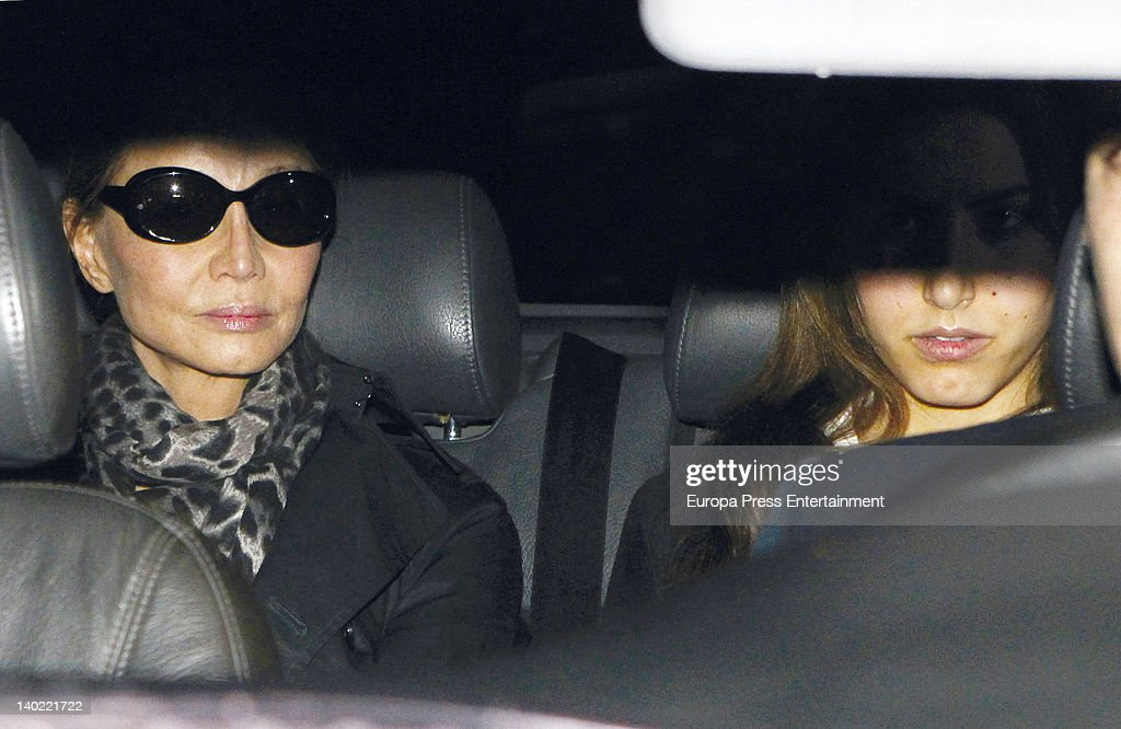 <a gi-track='captionPersonalityLinkClicked' href=/galleries/search?phrase=Isabel+Preysler&family=editorial&specificpeople=228933 ng-click='$event.stopPropagation()'>Isabel Preysler</a> and her daughter <a gi-track='captionPersonalityLinkClicked' href=/galleries/search?phrase=Ana+Boyer&family=editorial&specificpeople=4043272 ng-click='$event.stopPropagation()'>Ana Boyer</a> visit Miguel Boyer at Ruber Hospital on February 29, 2012 in Madrid, Spain. Miguel Boyer suffered a brain hemorrhage on February 27, 2012 in Madrid, Spain.