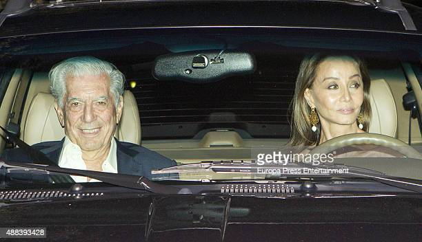 Isabel Preysler and Mario Vargas LLosa are seen