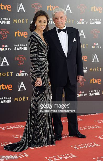 Isabel Preysler and Mario Vargas Llosa attend Goya Cinema Awards 2016 at Madrid Marriott Aud