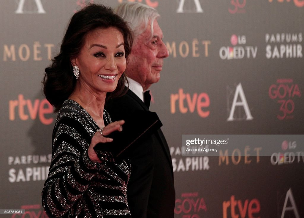 Isabel Preysler (L) and Mario Vargas Llosa attend the 30th edition of the Goya Awards at Madrid Marriott Auditorium in Madrid, Spain on February 6, 2016.