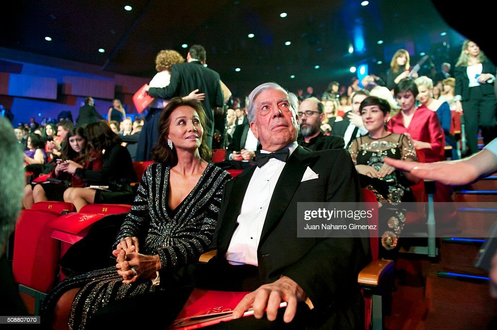 <a gi-track='captionPersonalityLinkClicked' href=/galleries/search?phrase=Isabel+Preysler&family=editorial&specificpeople=228933 ng-click='$event.stopPropagation()'>Isabel Preysler</a> and <a gi-track='captionPersonalityLinkClicked' href=/galleries/search?phrase=Mario+Vargas+Llosa&family=editorial&specificpeople=620765 ng-click='$event.stopPropagation()'>Mario Vargas Llosa</a> attend the 30th edition of the 'Goya Cinema Awards' ceremony at Madrid Marriott Auditorium on February 6, 2016 in Madrid, Spain.