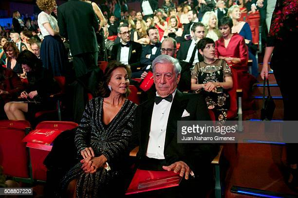 Isabel Preysler and Mario Vargas Llosa attend the 30th edition of the 'Goya Cinema Awards' ceremony at Madrid Marriott Auditorium on February 6 2016...