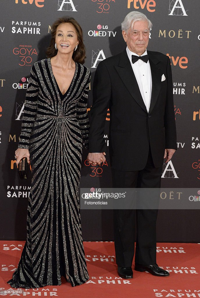 Isabel Preysler and Mario Vargas Llosa attend the Goya Cinema Awards 2016 Ceremony at Madrid Marriott Auditorium on February 6, 2016 in Madrid, Spain.