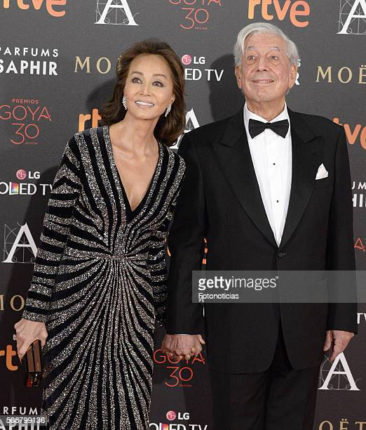 Isabel Preysler and Mario Vargas Llosa attend the Goya Cinema Awards 2016 Ceremony at Madrid Marriott Auditorium on February 6 2016 in Madrid Spain