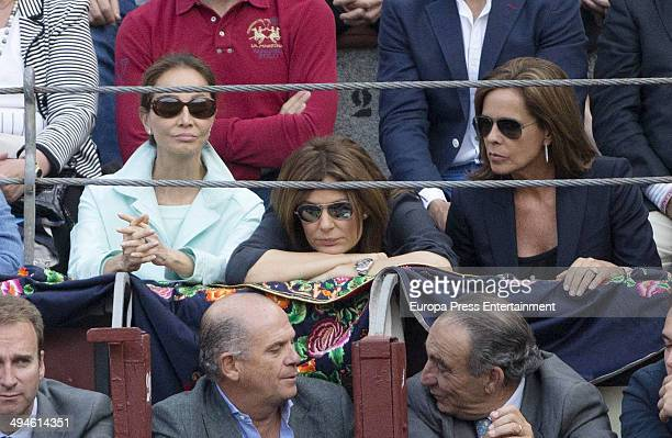 Isabel Preysler and Nuria Gonzalez attend San Isidro Fair at Las Ventas Bullring on May 29 2014 in Madrid Spain