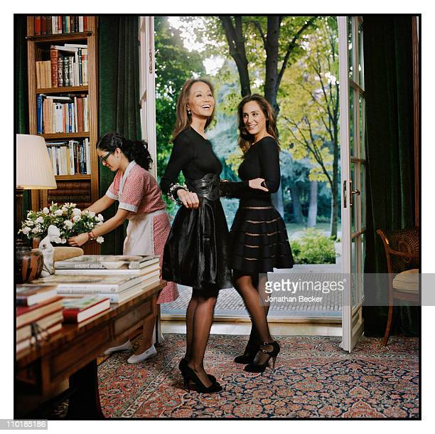 Isabel Preysler and Tamara Falco are photographed at home for Vanity Fair Spain on October 13 2010 in Madrid Spain Published image