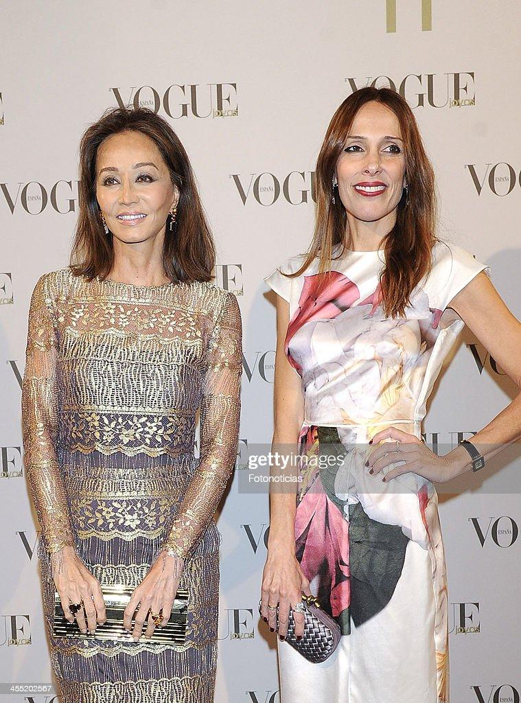 Isabel Preysler and Yolanda Sacristan attend Vogue Joyas 2013 Awards at the Palacio de la Bolsa on December 11, 2013 in Madrid, Spain.