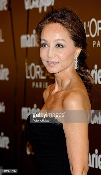 Isabel Preysler arrives at the '2009 Marie Claire Prix de la Mode' ceremony held at the French Ambassador«s residence on November 19 2009 in Madrid...