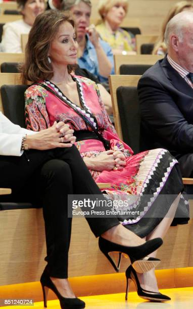 Isabel Preysler attends a conference about Vargas Llosa's last book 'Conversacion en Princeton' on September 21 2017 in Madrid Spain