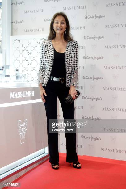 Isabel Preysler attends Massumeh photocall at El Corte Ingles Store on May 24 2012 in Madrid Spain