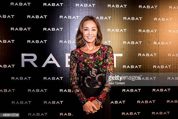 Isabel Preysler attends Rabat Boutique Inauguration on October 22 2015 in Barcelona Spain