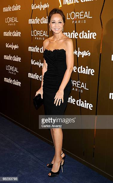 Isabel Preysler attends the 2009 Marie Claire Prix de la Moda awards at the French Embassy on November 19 2009 in Madrid Spain