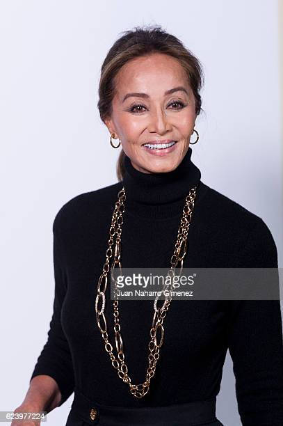 Isabel Preysler attends the 'LOEWE Past Present Future' inauguration exhibition at Jardin Botanico on November 17 2016 in Madrid Spain