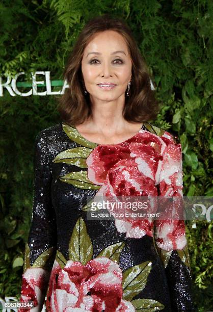 Isabel Preysler attends the opening of the new Porcelanosa store on June 14 2017 in San Sebastian de los Reyes Spain