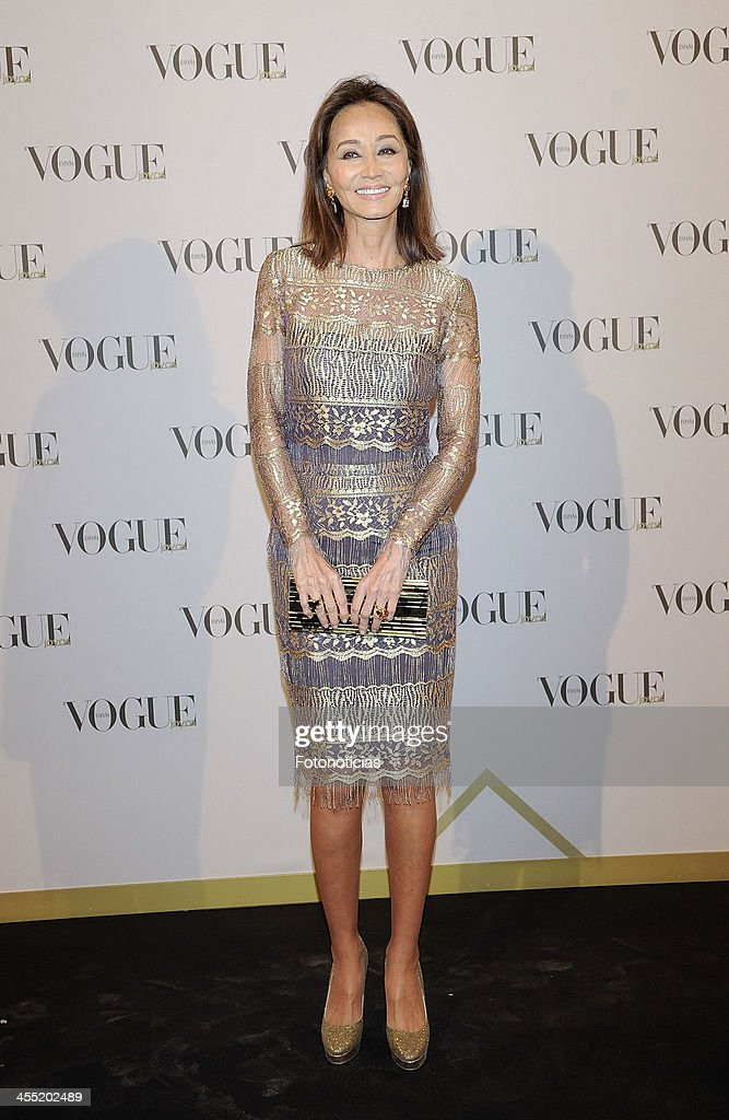 <a gi-track='captionPersonalityLinkClicked' href=/galleries/search?phrase=Isabel+Preysler&family=editorial&specificpeople=228933 ng-click='$event.stopPropagation()'>Isabel Preysler</a> attends Vogue Joyas 2013 Awards at the Palacio de la Bolsa on December 11, 2013 in Madrid, Spain.