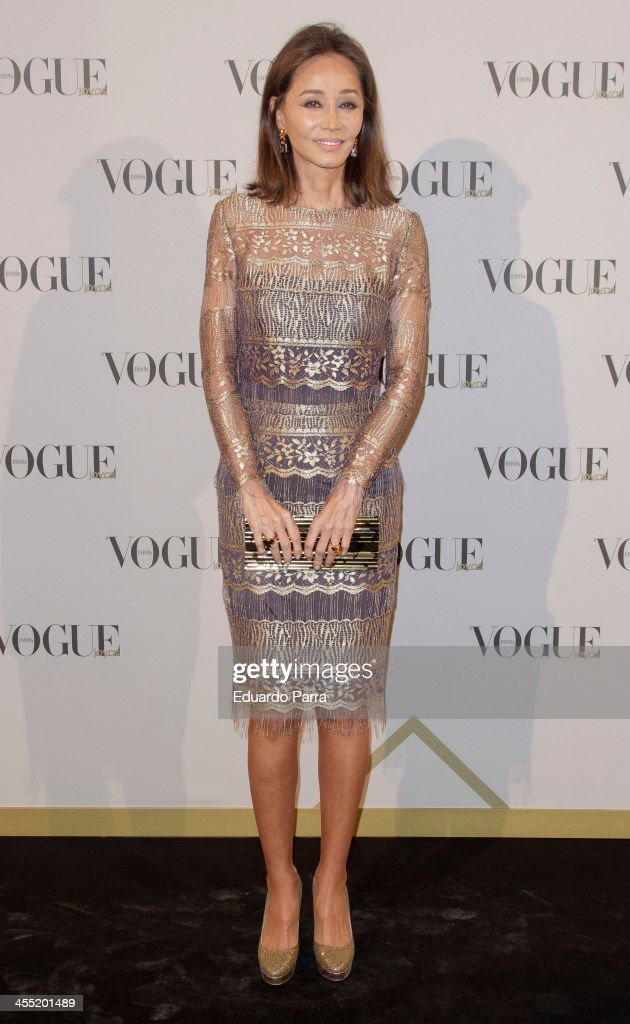 <a gi-track='captionPersonalityLinkClicked' href=/galleries/search?phrase=Isabel+Preysler&family=editorial&specificpeople=228933 ng-click='$event.stopPropagation()'>Isabel Preysler</a> attends Vogue joyas 2013 awards photocall at Madrid stock exchange on December 11, 2013 in Madrid, Spain.