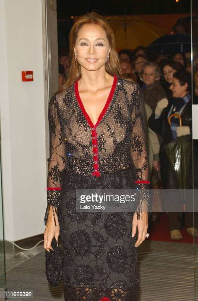 Isabel Preysler during Enrique Iglesias's Mother Isabel Preysler Attends Opnening of Porcelanosa Store at Porcelanosa Store in Madrid Spain