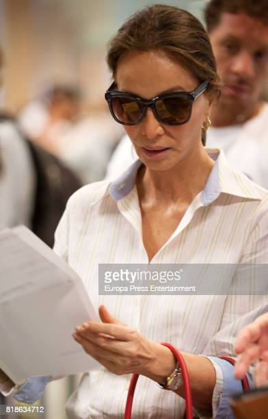 Isabel Preysler is seen on July 18 2017 in Ibiza Spain