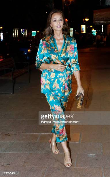 Isabel Preysler is seen on June 7 2017 in Madrid Spain