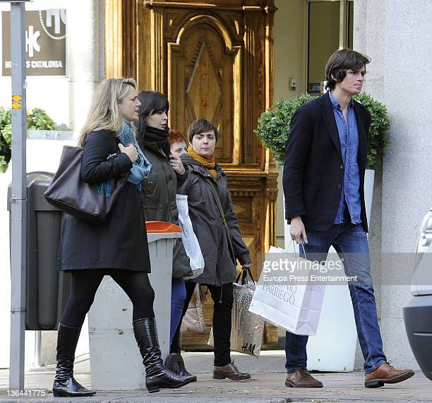 Isabel Sartorius and a friend are seen on December 19 2011 in Madrid Spain