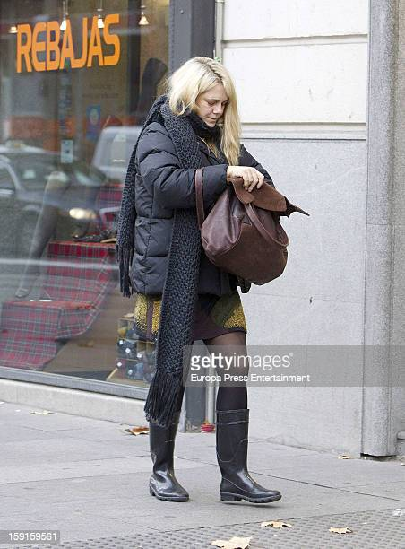 Isabel Sartorius is seen on January 8 2013 in Madrid Spain