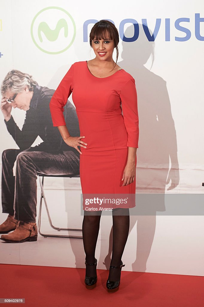 Isabel Soto attends the 'Que fue de Jorge Sanz' premiere at the Proyecciones cinema on February 10, 2016 in Madrid, Spain.